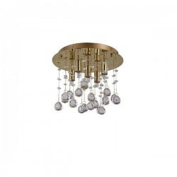 MOONLIGHT PL5 PLAFON IDEAL LUX 094663 ORO
