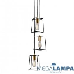 LAMPA WISZĄCA INDUSTRIALNA/LOFT ALANIS MD-BR16556-D3-B/G ITALUX