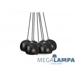 GULIA 7 LAMPA WISZĄCA AZZARDO FH5957-BJ-120 BLACK AZ0635