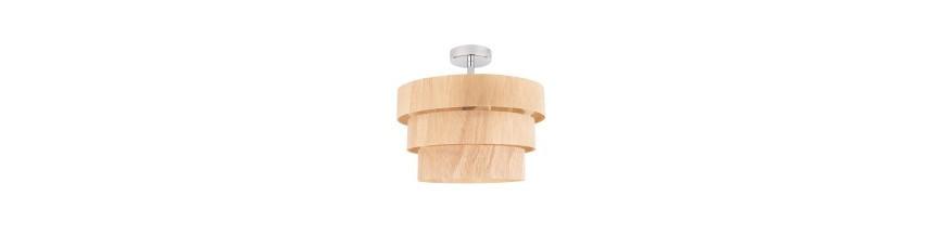 Lampy wiszące z elementami drewna